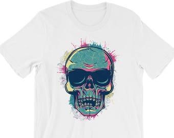 Skull Shirt | Skull Head Shirt | Psychedelic Skull Shirt | Psychedelic Shirt | Psychedelic Clothing | Trippy Shirt | Skeleton Shirt