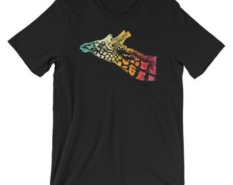 Giraffe Head Painting Colourful Men Women Long Short Sleeve Baseball T Shirt 604