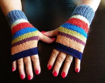 FINGERLESS gloves gift Crow