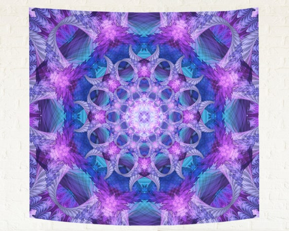 US SELLER-hanging wall art geometric psychedelic trippy wall hanging tapestry