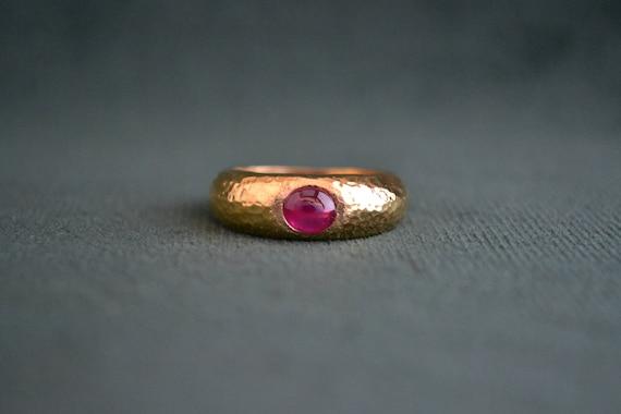 Byzantine ring with ruby stone