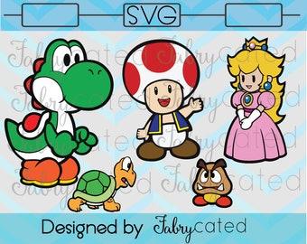 Super Mario Luigi Bullet Bill Bowser Svg Bundle You Cut