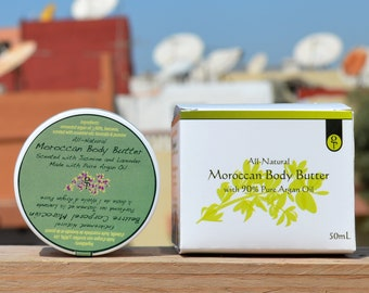 Moroccan Body Butter made with organic Argan Oil and Bees Wax