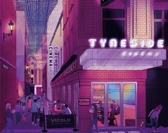 Newcastle, Tyneside Cinema, High Friar Lane, giclée print