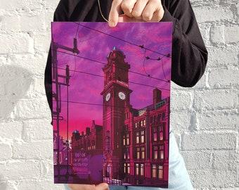 Manchester, Kimpton Hotel,  Giclée Print, Manchester gift