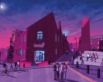 The Cluny by night, Newcastle, Ouseburn Giclée print