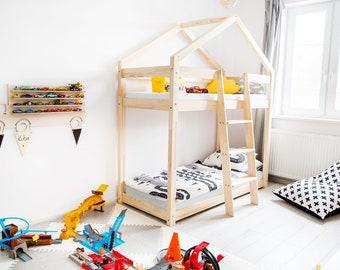 Hausbett Etagenbett : Halbhochbett hochbett schrebtisch kinderbett etagenbett bett in