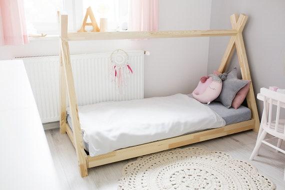 Single Children Wooden Tipi Bed Talo D11 Etsy