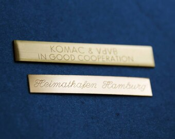 Hand engraving two-line (60 characters)