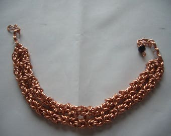 Copper Twin Byzantine Chainmaille Bracelet