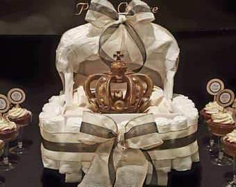 Royal Prince Bassinet Diaper Cake