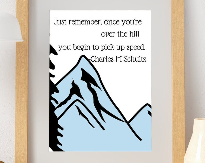Charles Shultz Growing Old Quote Wall Art