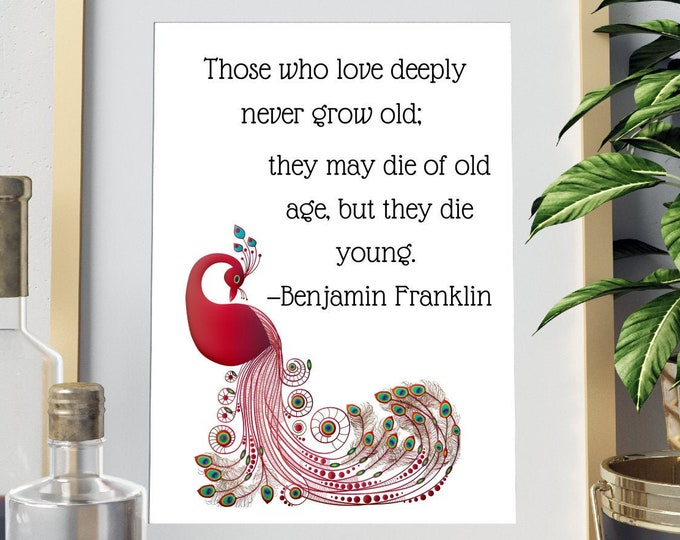 DIGITAL DOWNLOAD - Benjamin Franklin Quote Wall Art | 5 Print sizes included