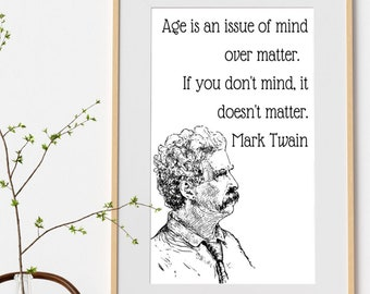 Quote Wall Art Mark Twain Samuel Clemmens