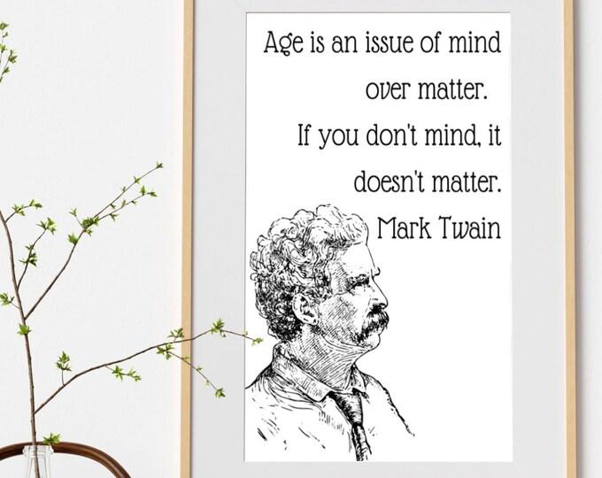 Quote Wall Art Mark Twain Samuel Clemmens
