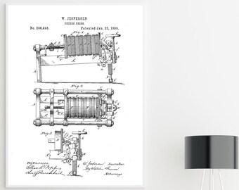 KITCHEN ART - Patent Print, Printable Wall Art, Digital Download, Man Cave Decor, Kitchen Decor, Minimalist Gallery, Industrial Drawing