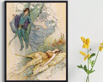 Warwick Goble Fairy Print Wall Art Poster For Home Decor