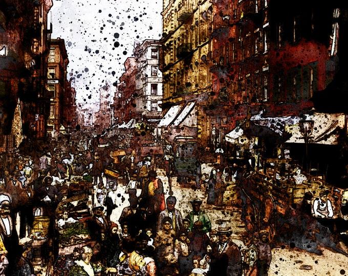 NEW YORK 1920 PRINT - Digital Art, Victorian Print, Vintage New York Photo Art, New York Skyline Wall Art