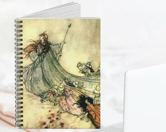 FAIRY QUEEN JOURNAL - Spiral Notebook, Bullet Journal, Lined Pages, Fantasy