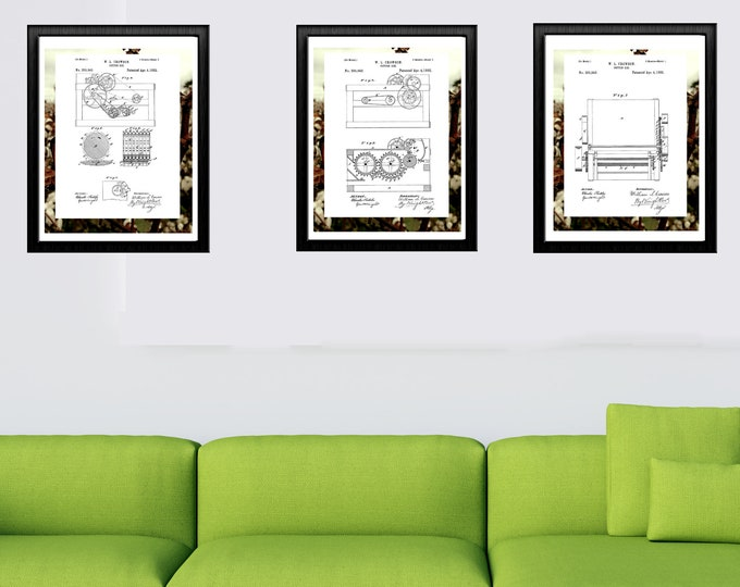 INVENTION ART - Cotton Gin Patent Print, Vintage Art, Digital Download, Pen and Ink Illustration, Victorian Wall Art