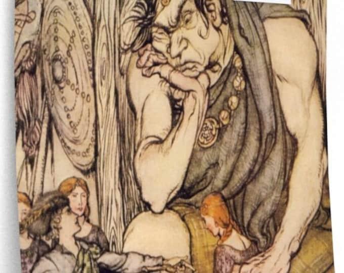 Arthur Rackham Jack and the Beanstalk With Fairy Harp