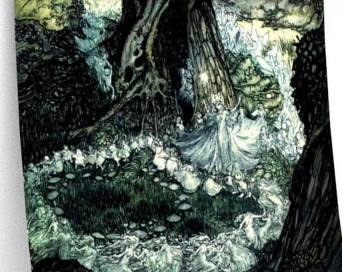 FAIRIES NYMPHS DANCING - Arthur Rackham Print, Vintage Art, Nursery Decor, Fantasy Art, Fables, Fairytale, Victorian Art