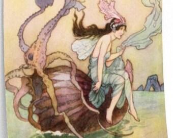 WARWICK GOBLE Print, Nautical Art, Home Decor, Wall Art, Fantasy Illustration, Man Cave Decor, Nursery Decor, Baby Shower Gift, Fairy Tale