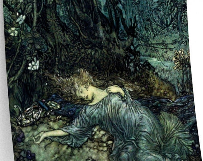 ARTHUR RACKHAM PRINT - Fantasy Wall Art, Fairy Tale Print, Book Illustration, Vintage Poster, Mythology, Viking Art
