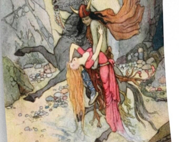WARWICK GOBLE, Poster, Fantasty Art, Fairy Tale, Nursery Decor, Man Cave Decor, Adult Fairy Story, Vintage Decor, Home Decor, Fairies