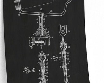 FISHING POLE HOLDER Patent Print - Fishing Tackle Art, Father's Day Gift, For Him, Man Cave Decor