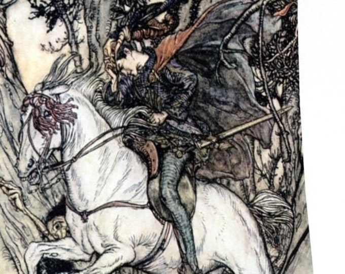 PRINCE ARTHUR RACKHAM Print - Prince Charming, Vintage Poster, Fairytale,  Book Illustration, Nursery Decor, Fantasy Art