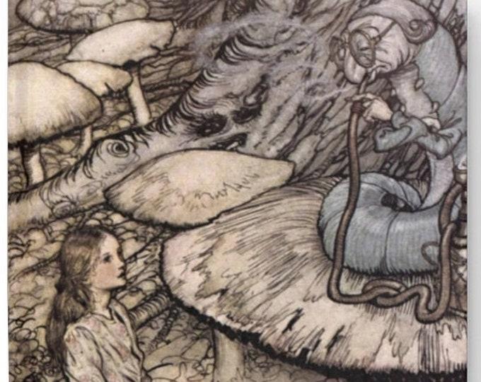 Alice in Wonderland With Caterpillar Journal - Blank, Sketch Book, Notebook, Hard Bound,