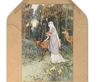Post Card Set Warwick Goble Print Craft Paper Envelopes