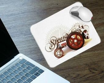 STEAMPUNK TRACTOR MOUSEPAD, Matching Clock Available