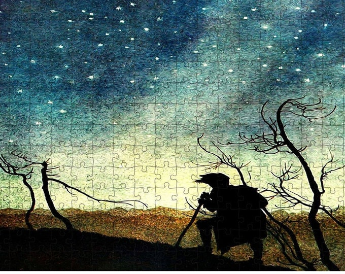 Fantasy Fairy Tale Print Puzzle - Stars At Twilight, Landscape Puzzle, Family Night Entertainment