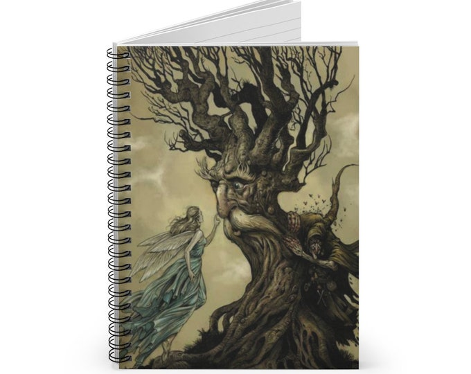 FAIRY TREE JOURNAL - Lined Spiral Notebook,