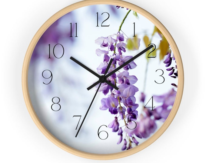 Wisterial Branch Watercolor Spring Wall Clock