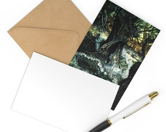 Postcards 7 Notecard Set Arthur Rackham Print Craft Envelopes