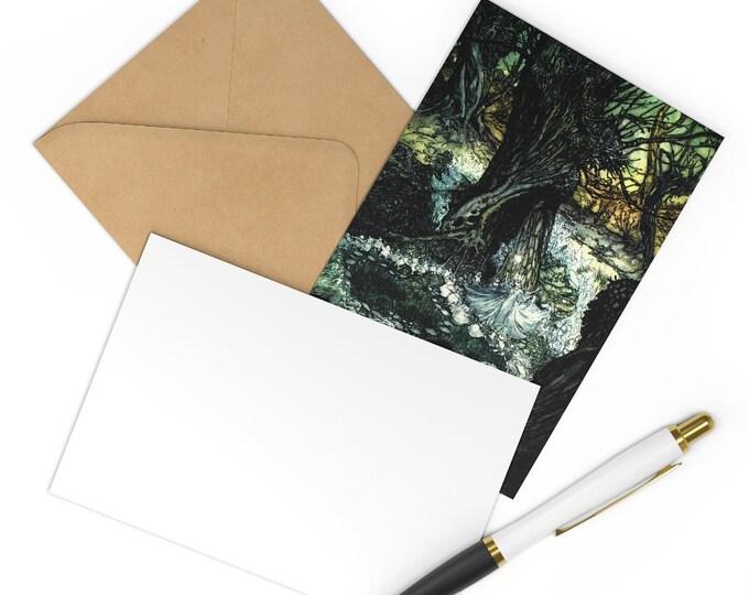 Postcards 7 Notecard Set Arthur Rackham Print Craft Envelopes