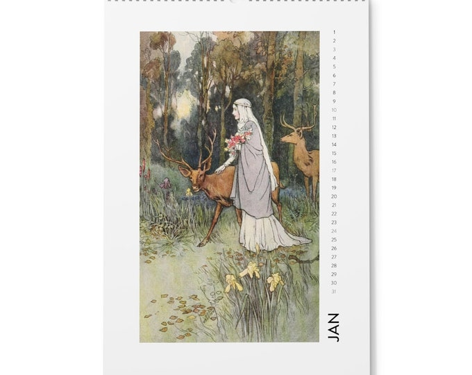 Warwick Goble Arthur Rackham Prints Wall Calendar (2021) 12 Frame-able Prints