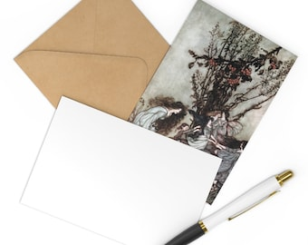 Postcards Set of 7 Note Cards Arthur Rackham Fairy Print With Craft Envelopes