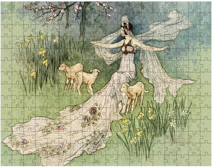 Warwick Goble Print Fairy Tale Jigsaw Puzzle - Family Puzzle, Adult Puzzle