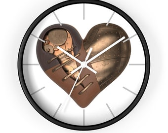 STEAMPUNK HEART CLOCK - Wall Clock, Mechanical Heart Clock, Ugears Clock