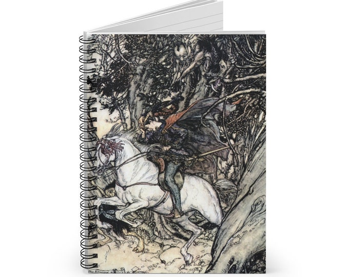 PRINCE ARTHUR RACKHAM - Journal, Spiral Notebook, Blank Book, Scrapbooking, Journaling, Lined Bullet Journal