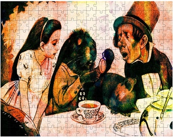 Alice In Wonderland Tea Party - Jigsaw Puzzle- Peter Newel