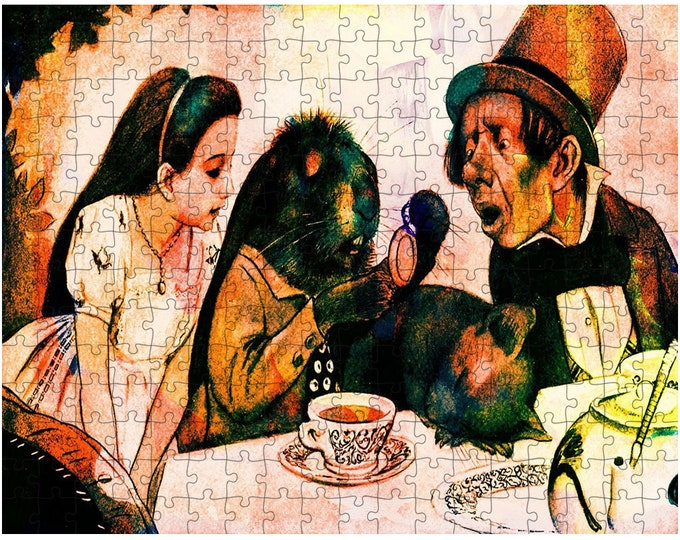 Alice In Wonderland Tea Party - Jigsaw Puzzle