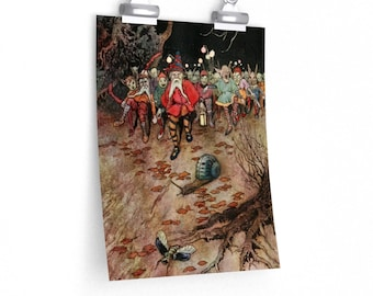 Warwick Goble Gnomes Marching Poster