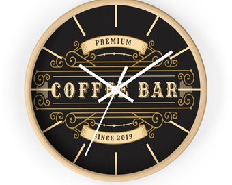 CLASSIC PREMIUM COFFEE Wall clock - Steampunk, Victorian, Art Deco, Barista Gift, Coffee Lover Gift
