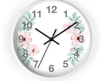 Plumeria Hawaiian Flower Analog Clock Perfect For Mom