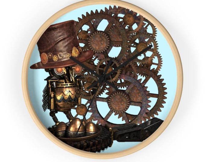 Mechanical Owl Steampunk Wall Clock